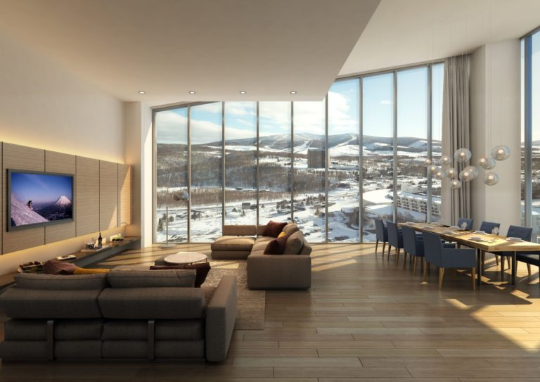 The Vale Rusutsu - Living room of the Penthouse